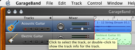 how to cut a garageband track in half